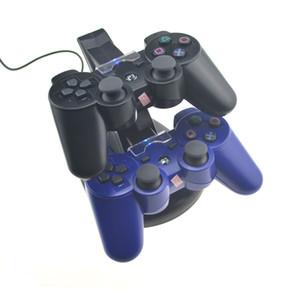 독 PS3 컨트롤러 LED 라이트 듀얼 차지 소니 플레이 스테이션 3 게임 패드 CONTROLE 비디오 게임 액세서리 스탠드 충전 USB