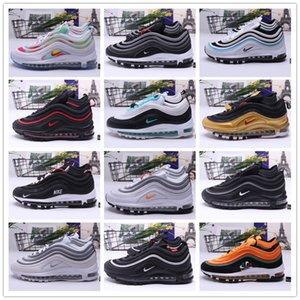 Atacado AIR MAX 97 homens e mulheres de amortecimento Sapatos 97s Max97 Moda Athletic Shoes Formadores Sneakers respirável planas EUR36-45
