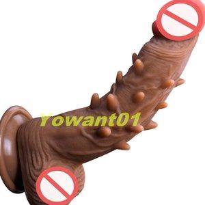 Удовлетворение Dildos Dildos Dongs Sex Dongs, захватывающие секс сильные игрушки всасывающие для колючей игрушки жизни мастурбаторы взрослых LREML