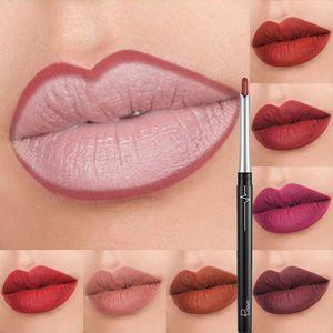 Новый матовый Aotu Lipliner Sexy Lipstick Set Nude Red Lip Stick карандаш водонепроницаемый длительный контур губ aotupen