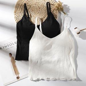 Tops Crop Slim Sexy Summer femmes manches Débardeurs ajustable pour camisoles de haute qualité