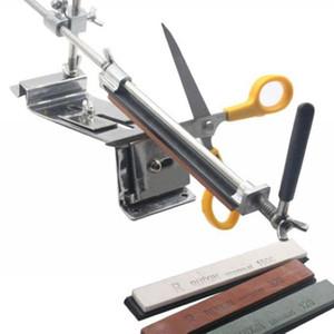 New Iron Steel Kitchen Sharpener Professional Kitchen Knife Sharpener Sharpening Tools Fix-angle With 4 Stones Whetstone