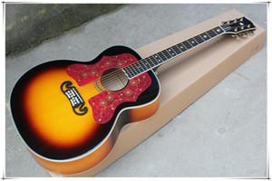 Золотые тюнеры 43-дюймовая табачная солнечная батарея акустическая гитара с пламенем клен заднее, фрету розового дерева, большой пикер, может быть настроен