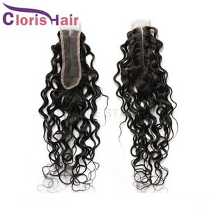 2x6 Water Wave Human Hair Swiss Lace Closure un processed Malaysian Virgin Wet And Wavy Middle Part Top Clasures Piece Cheap Kim K Closure
