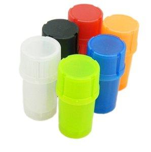 Plastic Grinder Med Container 3 Pièces tabac Grinder Crusher diamètre herbe 42mm Fumer Accessoires de cuisine