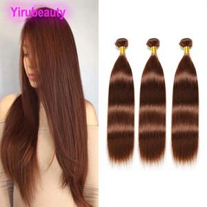 Malaysian Virgin Hair Extensions Três pacotes baratos reta de seda 4 # Cor Linha 3 Pacotes 4 # Hair Products Atacado