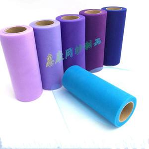 6 pulgadas 25YDS Tulles Roll Color sólido Hilo TUTU para envolver regalos Carretes de tul Decoraciones de boda Alta calidad 3 3hk E1