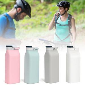 Dobrável Silicone Milk Bottle 600ml Cup Folding Silicone Exterior Água portátil de grande capacidade garrafa de água potável