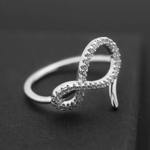 Wholesale- diamonds ring for women luxury diamond crystal rings s925 silver plated copper zircons jewelry gift for wedding Memorial Day