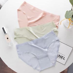 Roseheart Spring Women Fashion Green Cotton Low Waist Panties Underwear Lingerie Seamless One-Piece Briefs Underpants M L XL