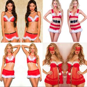 Hot Noël dentelle Sous-vêtements sexy lingerie féminine rouge Babydoll robe de nuit