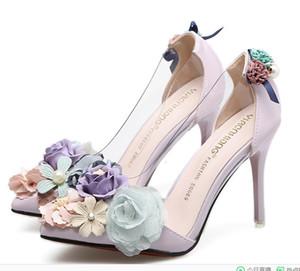 Alluring2019 Fund Princess Flower Fine Con Cool Exceed Hermosos zapatos de discoteca de tacón alto Single Shoe A3722