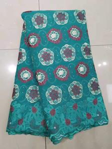 Tessuto Coral Magenta Plenty Pietre Tessuto per le donne Lace cotone asciutto tessuti del merletto di alta qualità svizzero africano del merletto del voile bf0051