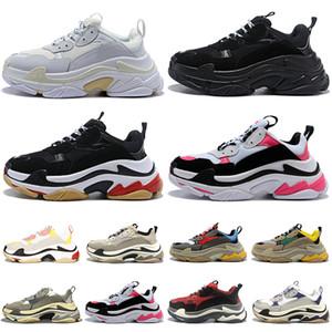 أحذية رياضية ثلاثية سلال الأحذية النسائية أرض triple s chaussures zapatos scarpe أزياء رياضية إمرأة رجل المدربين تنس أبي أحذية منصة