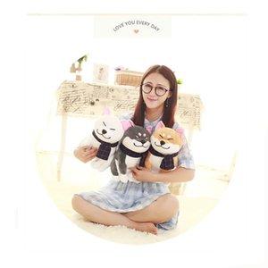 25 centímetros de pelúcia bonitos vestem amantes Scarf Shiba Inu Dog Plush Toy Toy Stuffed Animal sorriso macio Akita Dog Doll para presentes amantes aniversário dos miúdos