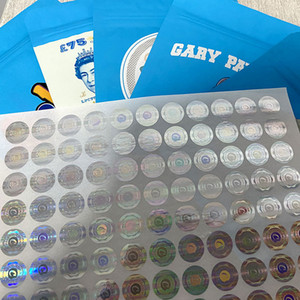 3D hologram stickers label newest cookies sf 8th california bags 420 packaging mylar bags customizable 3D Hologram Sticker