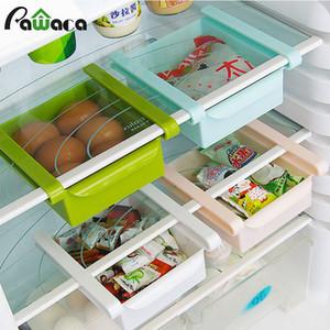 Deslize Cozinha Frigorífico Congelador Space Saver organizador de gaveta Frigorífico Caixa de armazenamento grade deslizante Sob prateleira Organizer