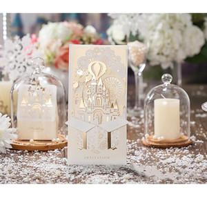 파티 공급 무료 인쇄 레이저 컷 활 초대 사용자 정의 HH9-A2536 결혼식 초대 카드 화이트 빈 초대 카드