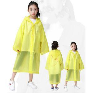 2020 Niño engranaje de la lluvia niños Aislamiento de protección Splash 2020 Explosión sólido color de la capa de lluvia Niño Niña al aire libre Ropa de protección
