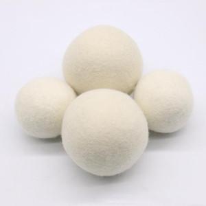 Palle per asciugatrice in feltro di lana naturale da 6 cm Palle per bucato riutilizzabili Non tossico Ammorbidente Riduce il tempo di asciugatura Sfere di colore bianco