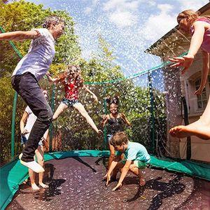 Summer Water Sprinkler Trampoline Sprinkler Outdoor Garden Water Games Toy Sprayer Backyard Park Accessories Feet Game