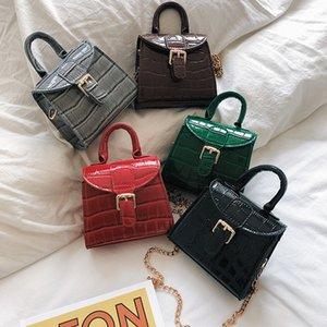 MANFUNI 2020 primavera nuevo bolso de hombro con hebilla de herradura versión coreana Pu pequeño bolso cuadrado moda salvaje monedero femenino