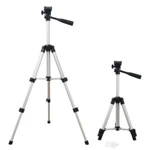 Evrensel Taşınabilir Alüminyum Alaşım Mini 3 Bölümler Profesyonel Kameralar 28 cm-65 cm Mobil Telefon Kameraları için Ayarlanabilir Tripod
