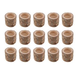 Table chandelier en bois naturel décoration Bougeoir Accueil pot plante dîner ornements de table faits à la main de l'artisanat