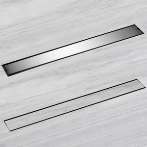 2020 Modern Deodorization Type Side Row Floor Drain 60cm 100cm 304 Stainless Steel Tile تدرج Invisible Drunh Flow