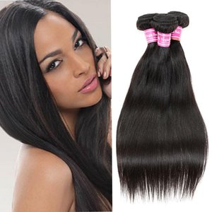 Malaysian Peruvian Indian Mongolian Cambodian Brazilian Wet And Wavy Hair Bundles Natural Black Straight Virgin Human Hair Weaves Extensions