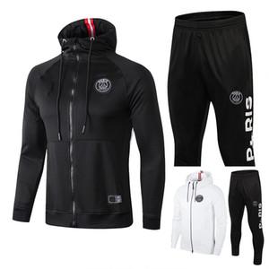 Топ качество 2018 2019 Парижа чемпионы куртки спортивного костюма Survetement 18 19 MBAPPE Pogba футбола длинная молния костюм