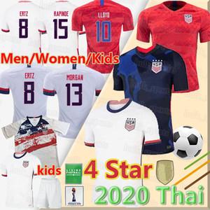 20 21 Erkek Bayan Çocuk Futbol Christian Pulisic Jersey Alex Morgan Julie Ertz Megan Rapinoe Basın Lloyd Heath Yedlin Altidore Futbol Gömlek