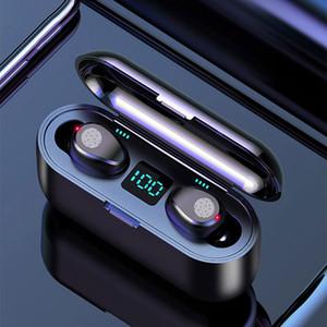 Matte Bluetooth 5.0 Kopfhörer F9 drahtlose Kopfhörer-Sport-Touch Control Wireless-Super-Mini für Handy