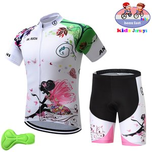 Children Cycling Jersey Set Kids Breathable Biking shirts Short Sleeve 3D Gel Pad Shorts girl Bicycle Clothing Suit bike uniform