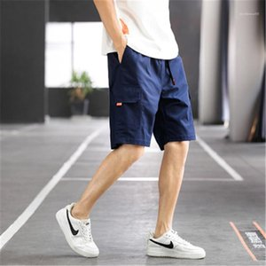 Overalls Pants Fashion Trend Loose Multi-bag Plus Size Shorts New Designer Drawstring Comfortable Pants Beach Mens Casual