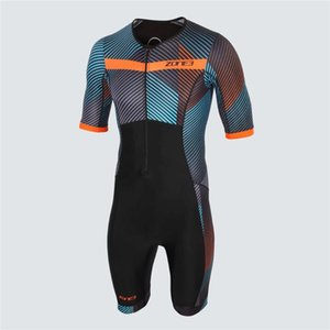 Zone3 2020 Summer Triathlon hommes Skinsuit cyclisme maillot manches courtes Jumpsuit route Vtt Vélo Vêtements de course