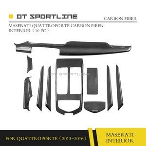 100% натуральное углеродное волокно внутренняя отделка для Maserati Quattroporte M156 Dash Kit крышка центральной консоли дверная ручка отделка приборной панели