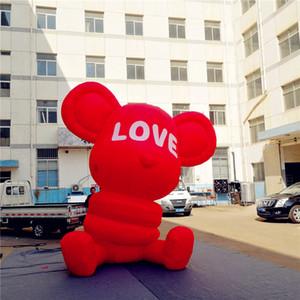 Love Bear Balloon preço de fábrica Red inflável com luz LED para Wedding Party Music Park Decoração