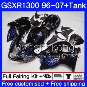 Hayabusa For SUZUKI GSXR1300 96 97 98 99 00 01 07 Kit 333HM.171 GSXR 1300 GSX-R1300 1996 1997 1998 1999 2000 2001 2007 Nice Black Fairing
