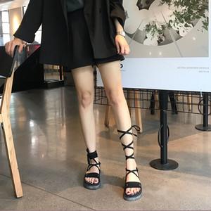 Croix égalité femmes chaussures suded été spartiates Calceus conception assez simple dames tatbeb daim santal 284