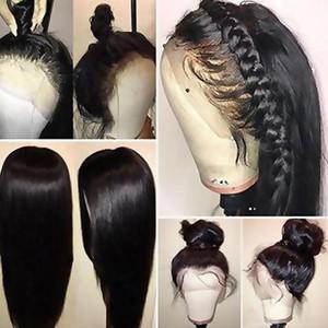 2020 полный шнурок человеческих волос Парики Humains с ребенком волос 150% Плотность бразильского Straight Remy фронта шнурка Human Wi волос