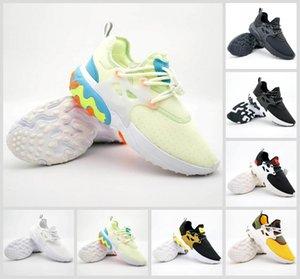Atacado Presto Mid épico Reagir Homens Mulheres Running Shoes Confortável Pé Sinta malha respirável tênis preto brancas Sapatos casuais 36-45