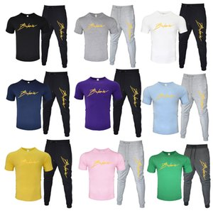 2020 Tracksuits Erkekler Giyim Tasarımcı Kuzey Kazak Pantolon + t gömlek Siyah Beyaz Kırmızı Sarı Erkekler Moda Casual Giyim Spor Eşofman