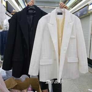 Houndstooth Suit Jacket Women's 2020 Autumn New Korean-Style Loose British-Style Chic Blazer Coat Ladies Outwears Tops