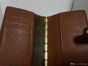 2019 neue Marke Notebook Designer Notebooks aus echtem Leder Agenda mit Goldringen MM Größe Agenda hochwertige Notizbücher versandkostenfrei Brieftasche