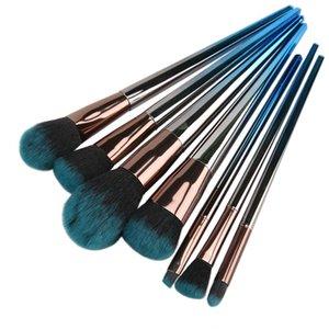 Nuevo degradado azul 7 pinceles de maquillaje Black Diamond Handle Brush Set de herramientas de belleza DHL 20