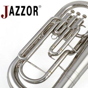 JAZZOR JBEP-1180 instrumento de viento de latón Profesional Bombardino B Oro plano de la laca con boquilla y estuche