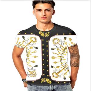 New Summer Men's T-Shirt Cotton Polshirt Shirt 3D Medusa Floral Print Short Sleeve Designer 2019 Fashion Casual T-Shirt Men's Tee Top