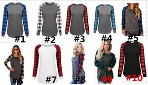 S-5XL Женщины Plaid футболка с длинным рукавом Hoodie пуловер пэчворк Блузы весна осень футболка Повседневный пуловер Топы женские футболки Блуза