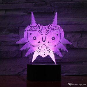 Legend of Zelda Figur Majoras Mask 3D-Lava-Lampe Kreative Farbe 7, die LED-Nachtlicht